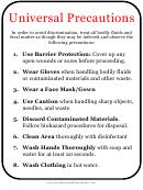 Universal Precautions Sign