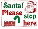 Christmas Santa Sign Template