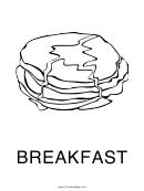 Breakfast Sign Template