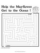 Mayflower Thanksgiving Maze Template