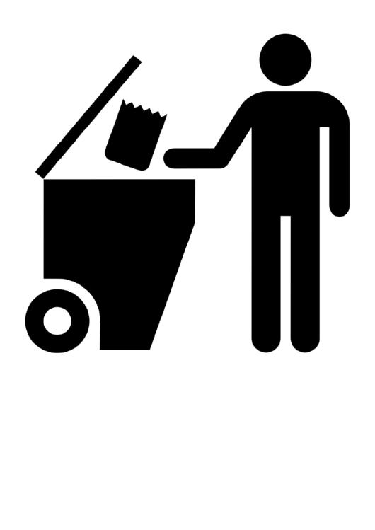 Litter In Bins Sign