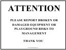 Playground Broken Equipment