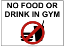 Gym - No Food Sign Template