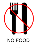 No Food Sign Template
