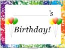 Birthday Lawn Sign