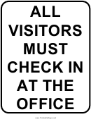 School Visitor Sign