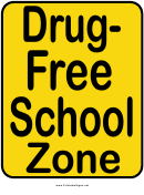 Drug-free School Sign Template