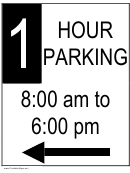 1 Hour Parking