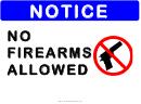 Notice No Firearms