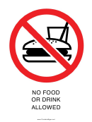 No Food Or Drink Allowed