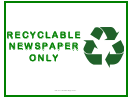 Recyclable Newspaper Only