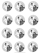 One Dollar Coin Template