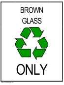 Recyclebrownglass