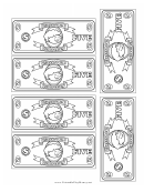 Classroom Currency Five Dollar Bill Template