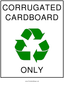 Corrugated Cardboard Recyclables
