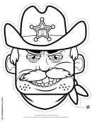 Sheriff Mask Template