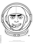 Space Man Mask Outline Template