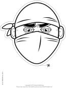 Ninja Mask Outline Template