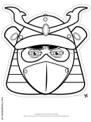 Samurai Mask Outline Template