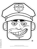 Police Officer Mask Outline Template