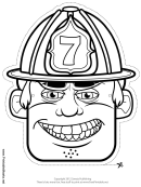 Fireman Mask Outline Template