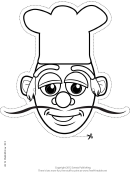 Cook Mask Outline Template