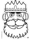 King Mask Outline Template