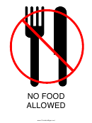 No Food Allowed