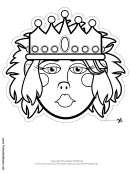 Queen Mask Outline Template