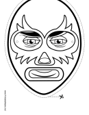 Captain America Mask Outline Template