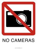 No Cameras Sign Template