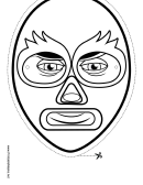 Superhero Mask Outline Template