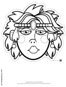 Female Mask Outline Template
