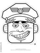 Officer Mask Outline Template