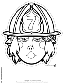 Firewoman Mask Outline Template