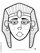 Egyptian Mask Outline Template
