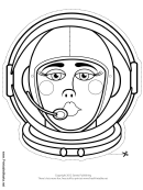 Space Woman Mask Outline Template
