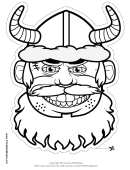 Vikings Mask Outline Template