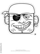 Pirate Mask Outline Template