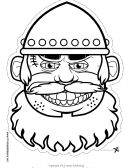 Brigand Mask Outline Template