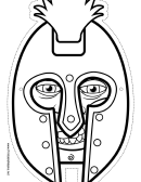 Knight Mask Outline Template