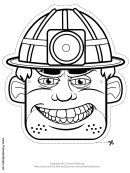 Miner Mask Outline Template