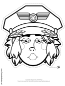 Air Force Female Mask Outline Template