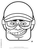 Ski Mask Outline Template