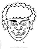 Goggles Mask Outline Template