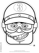 Press Crew Mask Outline Template