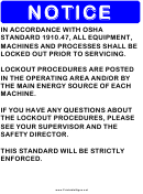 Notice Osha Standard Sign Template