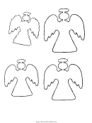 Small Blank Angel Templates