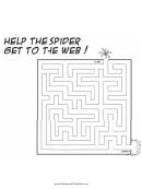 Spider Web Maze Template