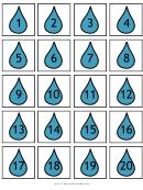 Raindrop Calendar Date Tag Templates